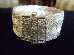 Sepet örgü Bilezik.. 950 ayar gümüş