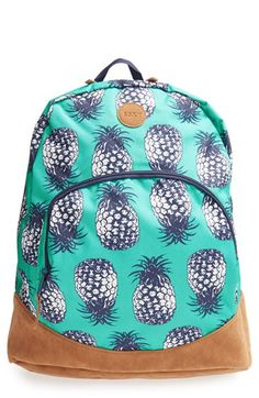 Free shipping and returns on Roxy 'Fairness' Backpack (Girls) at Nordstrom.com. Tropical pineapples lend beachy vibes to this supercool backpack detailed by a logo patch and reinforced bottom. The padded back panel allows her to safely stash a tablet and other media devices in the interior zip pocket.