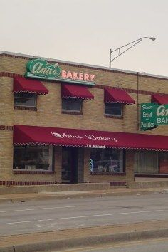 The area's oldest scratch bakery, Ann's Bakery in Tulsa. Our wedding cake came from Ann's...April 26, 1980.