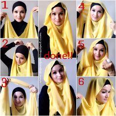 Hijab Outfits Tumblr   Malaysian Inspired Loose Hijab Style