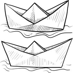 tattoo idea....??? Paper Boats Vector Vector Art 150963519 | Thinkstock