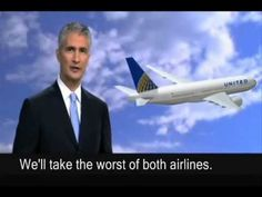 United Airlines CEO Parody - merging with continental.