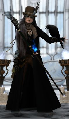 Lyra – Future Magic (commissioned) by on DeviantArt – Vudu – Rent, Buy or Watch Movies with No Fee! Steampunk Halloween Costumes, Steampunk Witch, Voodoo Halloween, Arte Steampunk, Vintage Halloween, Halloween Party, Vintage Witch, Halloween Halloween, Halloween Outfits