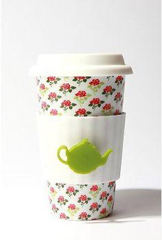 love this. the tea pot tea bag holder is genius.