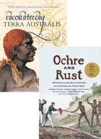 Australian History Package    Ochre and Rust takes nine Aboriginal and colonial artefacts from their museum shelves and positions them at the centre of various gripping and poignant tales set in the heart of Australia's frontier zone. Encountering Terra Australis traces the parallel lives and voyages of the explorers Flinders and Baudin as they navigated the coastline of mainland Australia and Tasmania.   Regular Price: AU$89.90  Discounted Price: AU$59.95 Parallel Lives, Terra Australis, Aboriginal History, In The Heart, Tasmania, Colonial, Rust, Centre, Museum