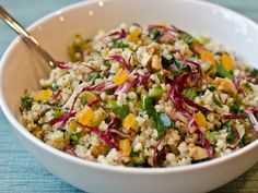 Bulgur Salad with Apricots, Radicchio, Herbs and Walnuts. #recipe