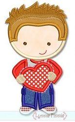 Valentine Boy Applique - 3 Sizes! | Valentine's Day | Machine Embroidery Designs | SWAKembroidery.com Lynnie Pinnie