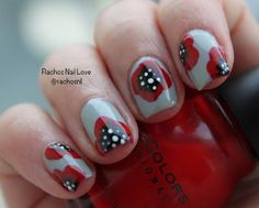 Poppy Nail Art #nailart #red #flowrynails  - Belashoot.com!