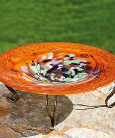 Swirl Birdbath