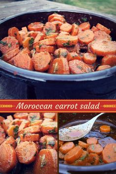 A spicy & delicious carrot salad, combining cooked sliced carrots in a zingy dressing. A perfect side dish or lovely addition to a mezze platter or buffet.  #salad #carrots #sidedish #easyrecipe #delicious #vegan #vegetarian