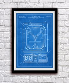Flux Capacitor - Back To The Future - Action Figure Toy Decor - Patent Print Poster Wall Decor - 0998  Hang a piece of history in your Home,
