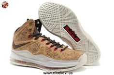 Cork Classic Nike Sportswear LeBron X 580890-200 Brown/Classic Brown-University Red For Wholesale