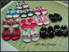 GiGi's Doll and Craft Creations: 18 inch Doll Sandal Tutorial - DIY