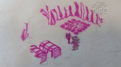Early Knight Lore concept sketch by Tim Stamper
