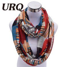 Designer Brand Fashion Infinity Scarfs Winter Warm Plaid Print Tube Scarves For Women V8A18213