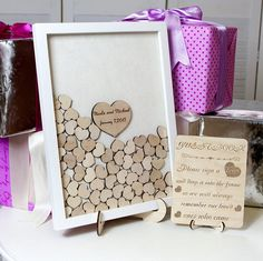 Wedding Guest Book Alternative Drop Box Guest Book Hearts