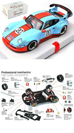 Revoslot Porsche 911 Gulf Blue Revo Slot Car for sale online Ho Slot Cars, Slot Car Racing, Slot Car Tracks, Indy Cars, Rc Cars, Porsche Carrera, Porsche 911, Carrera Slot Cars, Plastic Model Cars