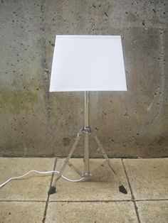 Upcycled Music Stand Lamp with shade by TheVintageBow on Etsy, $38.50