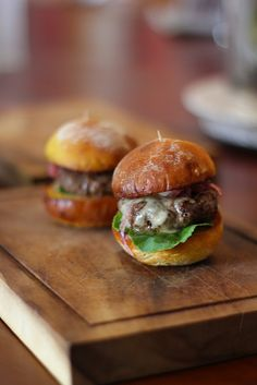 mini wagyu burger. I could eat many of these!