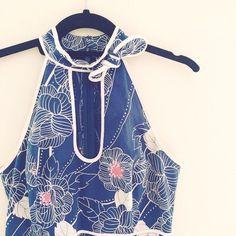 Vintage Anthropologie Floral Halter Dress