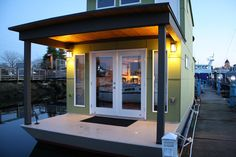"""Sweet Pea"" floating house in Olympia, Washington. Photos and build by Mike Auderer. More info. here."
