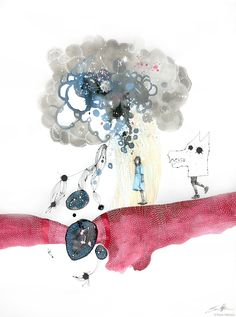 The Rain Told Her to Run, Ewan Atkinson 3 Arts, Make It Work, Contemporary Artists, Paper Art, Rain, Drawings, Illustration, Artwork, Projects