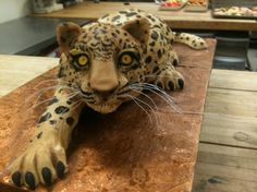 This is actually a leopard cake