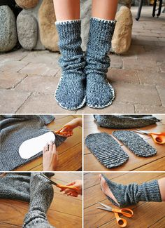 Diy Discover DIY slippers from old sweater Sewing Slippers Crochet Slippers Crochet Boots Felted Slippers Sewing Hacks Sewing Crafts Sewing Projects Sewing Patterns Crochet Patterns Sewing Slippers, Crochet Slippers, Crochet Boots, Felted Slippers, Sewing Hacks, Sewing Crafts, Sewing Projects, Sewing Diy, Upcycled Crafts