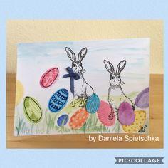 Heute möchte ich Euch meine österlich gestaltete Karte zeigen. Mit unserem GONIS Oster-Stempel-Set ein Kinderspiel... Farbenfroh wurde es dann mit den tollen AquaXXL Stiften.  Love it 😍  #gonis#unbezahltewerbung#ostern#easter#eastercard#easterwishes#osterkarten#rabbit#easterrabbit#osterhasen#diy#stempeln#spass#bunt#kreativseinmachtglücklich#lovemyjob#komminmeinteam#id1135240#danielaspietschka#seidabei#machdieweltbunter#colourful#farbenfroh#
