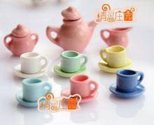 G05-X464 kinder baby geschenk Spielzeug 1:12 Puppenhaus mini Möbel Miniatur rement Küche bunte tasse 15 teile/satz(China (Mainland))