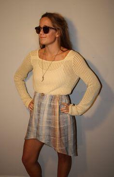 Vintage HiLow Pastel Spring Skirt by PrudenceandAustere on Etsy, $33.00