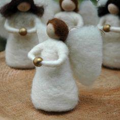 Christmas Angel - Needle Felted Ornament