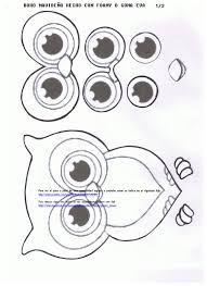 Resultado de imagen para MOLDES DE BUHOS DE FOami