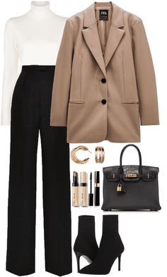 Glamouröse Outfits, Kpop Fashion Outfits, Retro Outfits, Polyvore Outfits, Business Casual Outfits, Cute Casual Outfits, Simple Outfits, Stylish Outfits, Look Fashion