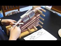 double faced tablet weaving with close ups - YouTube
