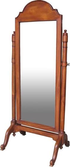 Classic Plain Cheval Mirror, free standing and functional. Available from Lock Stock and Barrel Furniture.