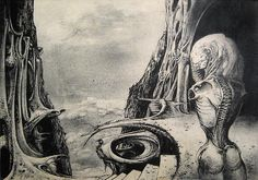 by H.R. Giger, 1968