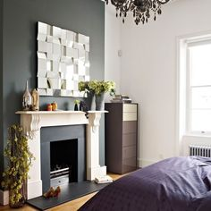 Master bedroom | Be inspired by a dark and dramatic Victorian town house | House tour | Livingetc | PHOTO GALLERY