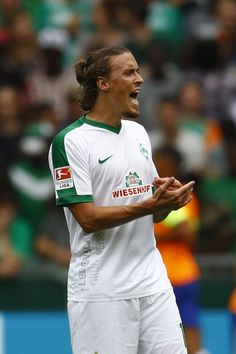 Max Kruse of Bremen during the pre-season friendly match between Werder Bremen and FC Chelsea at Weserstadion on August 7, 2016 in…