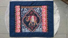 "Mug rug #11 ""Elephant walk"""