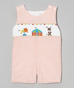 Look what I found on #zulily! Sweet Teas Children's Boutique Orange Circus John Johns - Infant & Toddler by Sweet Teas Children's Boutique #zulilyfinds