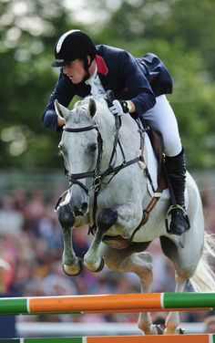 Oliver Townsend of Great Britain rides Carousel Quest during the Show Jumping Event of the Burghley Horse Trials on September 5, 2010