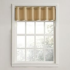 Place the No. 918 Casual Grommet Window Valance in your kitchen or breakfast nook to filter the light and create a charming look. Large pleats make a lovely statement and the grommets make it easy to hang. Size: 56 x Color: Beige. Tier Curtains, Grommet Curtains, Window Curtains, Curtain Valances, Bedroom Curtains, Cafe Rod, Kitchen Valances, Space Furniture, Curtain Rods