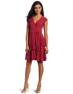 Amazon.com: Jones New York Women's Matte Jersey Wrap Dress: Clothing
