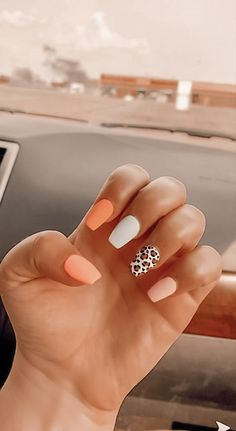 Acrylic Nails Coffin Short, Simple Acrylic Nails, Pink Acrylic Nails, Simple Nails, Gel Nails, Coffin Nails, Acylic Nails, Cute Acrylic Nail Designs, Cheetah Nail Designs