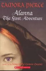 The first of the Tortall novels (prequel novels were written later) this series tells the story of Alanna of Trebond who switches places with her twin brother, and disguised as a boy, must attempt to become the first Lady Knight.