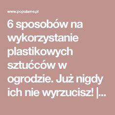 6 sposobów na wykorzystanie plastikowych sztućców w ogrodzie. Już nigdy ich nie wyrzucisz!   Popularne.pl