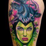 Watercolor Tattoo, Portrait, Tattoos, Tattoo Man, Realist Tattoos, Vibrant Hair Colors, Portraits, Tatuajes, Men Portrait