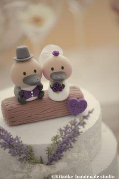 platypus wedding | Custom platypus Wedding Cake Topper with swallow-tailed coat, tuxedo ...