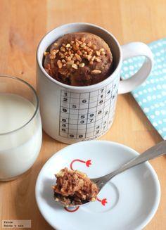 Cómo hacer un mug cake de chocolate y vainilla para la merienda #receta #peques